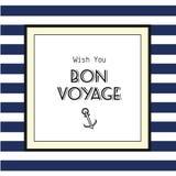 Bon voyage card Royalty Free Stock Images