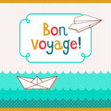 Bon voyage card Stock Photo