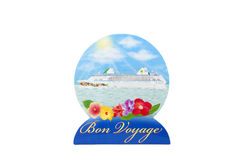 Bon Voyage. A bon voyage centerpiece against a white background Stock Image