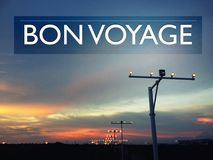 Bon Voyage Concept with an image of airport runway Stock Photo