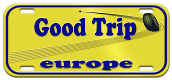 bon voyage de l'Europe Photo libre de droits