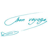 Bon Voyage design. Summer postcard Stock Image