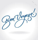 'Bon Voyage' hand lettering (vector) Royalty Free Stock Photo