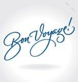 'Bon Voyage' hand lettering (vector). 'Bon Voyage' hand lettering - handmade calligraphy, vector (eps8 Royalty Free Stock Photo