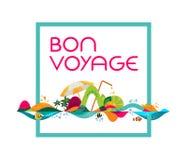 Bon Voyage - insegna, illustrazione del modello di vettore Fotografia Stock