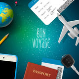 Bon voyage, planning vacation trip Royalty Free Stock Images