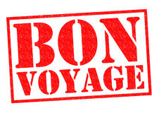 BON VOYAGE. Red Rubber Stamp over a white background Stock Photo