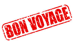 Bon voyage red stamp text Stock Photo