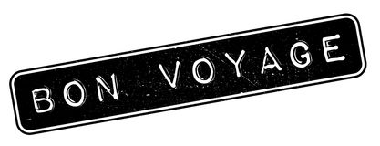 Bon Voyage rubber stamp Stock Photography