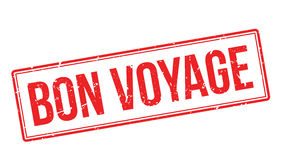 Bon Voyage rubber stamp Royalty Free Stock Images