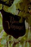Bon voyage sign. Cast iron bon voyage sign Royalty Free Stock Image