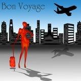 Bon Voyage with skyline Stock Photography