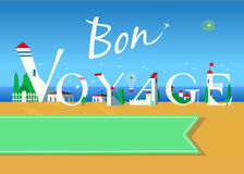 Bon voyage. Travel card Royalty Free Stock Images