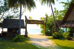 Bon Yoyage sign. Bon Voyage sign at an island in Thailand Royalty Free Stock Image