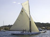 Bona Fide. Classic sailing yacht Bona Fide in attendance for the regatta Stock Images