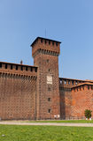 Bona of Savoy Tower of Sforza Castle (XV c.) in Milan, Italy Royalty Free Stock Image