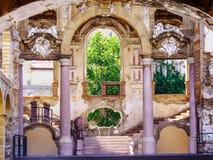 Bonagia palace. XVIII century, in Palermo Sicily`s Kalsa district, s badly damaged during World War II royalty free stock images