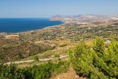 BONAGIA panorama SICILIA fotografia stock