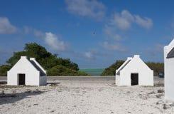 Bonaire - casas do escravo foto de stock