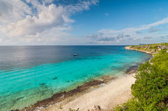 Bonaire coastline. A landmark location on Bonaire for snorkeling, Dutch Caribbean Island stock images