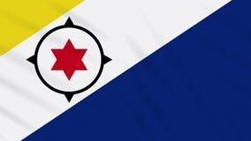 Bonaire flag waving cloth background, loop stock illustration