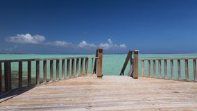 Bonaire island Caribbean sea windsurf lagoon Sorobon Royalty Free Stock Image