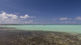 Bonaire island Caribbean sea windsurf lagoon Sorobon. Bonaire island windsurf lagoon Sorobon royalty free stock photos