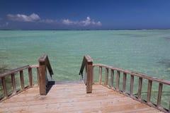 Bonaire island Caribbean sea windsurf lagoon Sorobon Royalty Free Stock Images