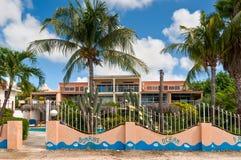 Bonaire Oceanfront Apartments royalty free stock photo