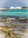 Bonaire salt pans Royalty Free Stock Photography