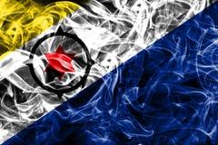 Bonaire smoke flag, Netherlands dependent territory flag.  Stock Photography