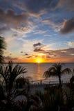 Bonaire solnedgång Fotografering för Bildbyråer