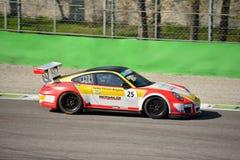 Bonaldi Motorsport Porsche 911 GT3 filiżanka przy Monza Obrazy Stock