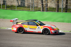 Bonaldi Motorsport Porsche 911 GT3 Kop in Monza Stock Afbeeldingen