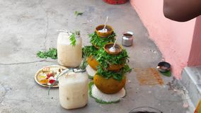 Bonalu in Hindoes huwelijk royalty-vrije stock afbeeldingen