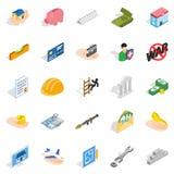 Bonanza icons set, isometric style Stock Photography