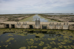 Bonanza saltpans Stock Photography