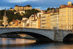 bonaparte γέφυρα Λυών Στοκ φωτογραφίες με δικαίωμα ελεύθερης χρήσης