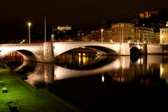Bonaparte Bridge - Lyon France Royalty Free Stock Photos