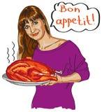 Bonappetit! Fotografering för Bildbyråer