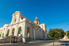 Bonaria cathedral in Cagliari Royalty Free Stock Image