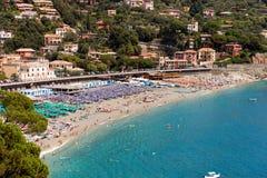 Bonassola Beach - Liguria - Italy Stock Images
