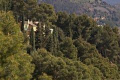 Bonassola, blisko Cinque Terre 03/31/2019 Typowy Liguryjski dom zdjęcie stock