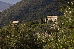 Bonassola, dichtbij Cinque Terre 03/31/2019 Een typisch Ligurian huis royalty-vrije stock fotografie