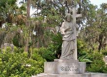 Bonaventure Cemetery near Savannah, Georgia stock image