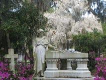 Bonaventure Cemetery Statute stock photos