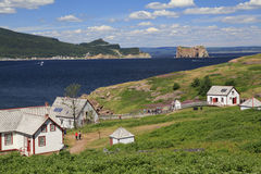 Bonaventure Island και βράχος Perce, Gaspesie, Καναδάς Στοκ Εικόνες