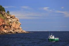 Bonaventure Island in Gaspesie. Quebec, Canada Royalty Free Stock Photo
