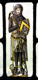 Bonawit Stained Glass Medieval Knight Yale Royalty Free Stock Photos