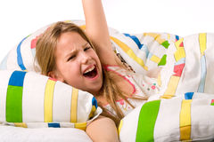 bonbon à enfant se réveillant vers le haut Images stock